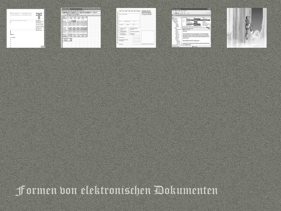 Formen von elektronischen Dokumenten
