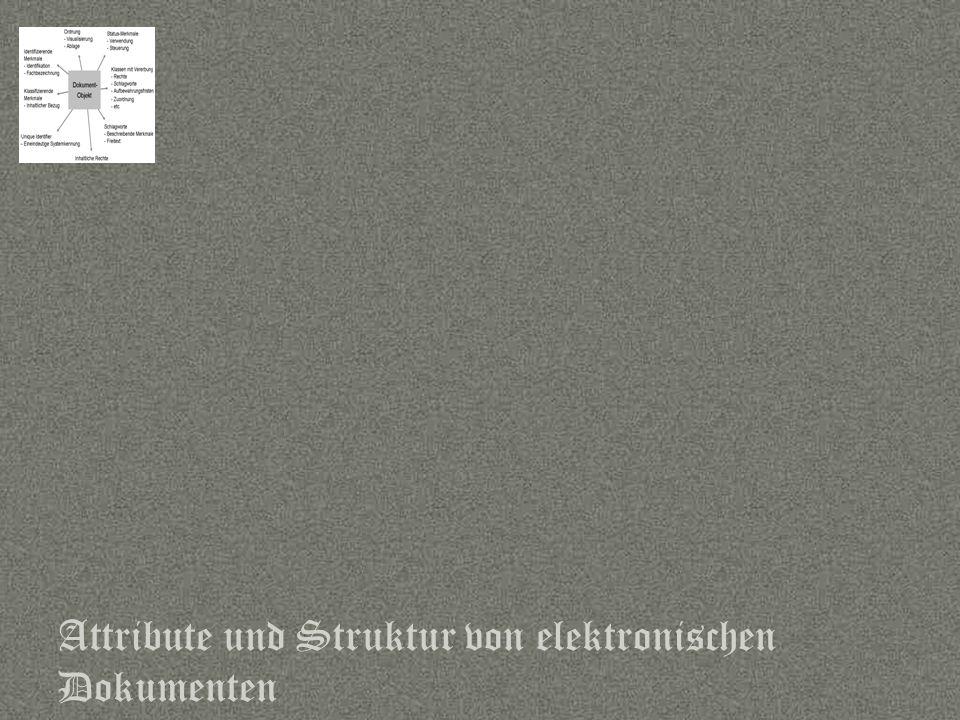 Attribute und Struktur von elektronischen Dokumenten