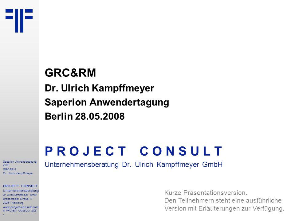 1 Saperion Anwendertagung 2008 GRC&RM Dr.