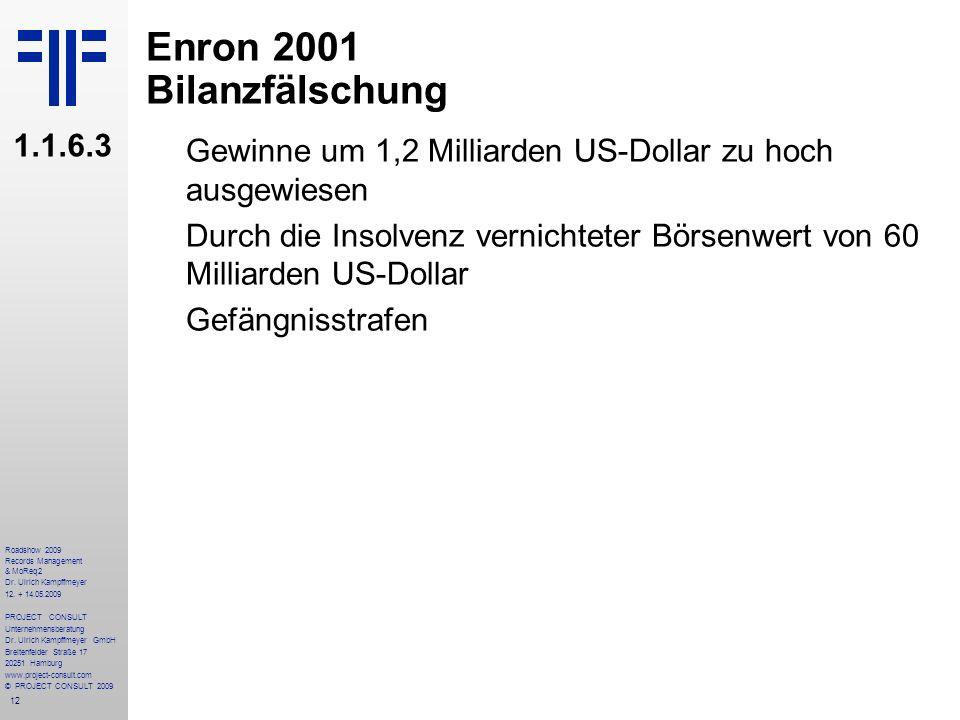 12 Roadshow 2009 Records Management & MoReq2 Dr. Ulrich Kampffmeyer 12. + 14.05.2009 PROJECT CONSULT Unternehmensberatung Dr. Ulrich Kampffmeyer GmbH