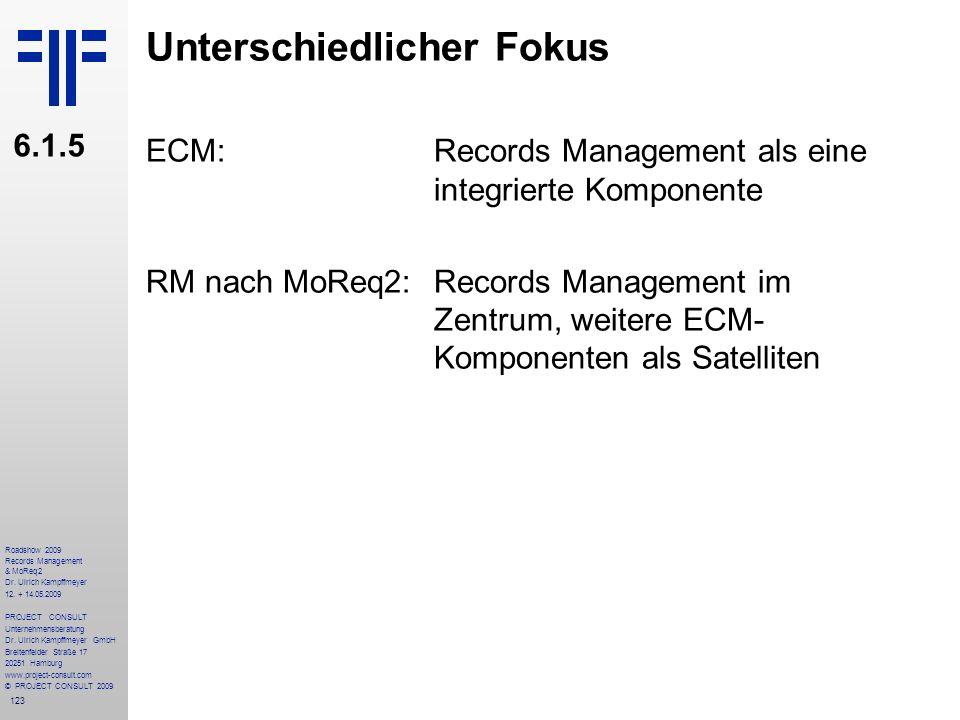 123 Roadshow 2009 Records Management & MoReq2 Dr. Ulrich Kampffmeyer 12. + 14.05.2009 PROJECT CONSULT Unternehmensberatung Dr. Ulrich Kampffmeyer GmbH