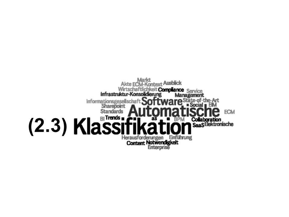 22 Automatische Klassifikation überwindet den Flaschenhals der Informationserfassung verbessert die Informationserschließung und die Qualität der Suchergebnisse in großen Informationsbeständen lernt selbst und baut inhaltliche Bezüge auf vernichtet Arbeitsplätze …