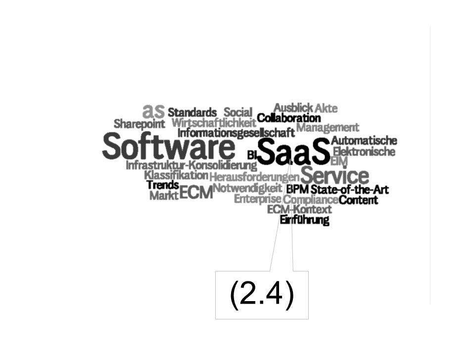 26 Software as a Service Der wahre Gegner von ECM-Inhouse- Lösungen.