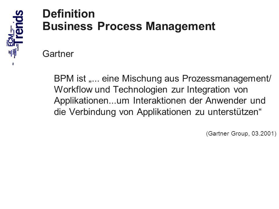 44 Definition Business Process Management Gartner BPM ist... eine Mischung aus Prozessmanagement/ Workflow und Technologien zur Integration von Applik
