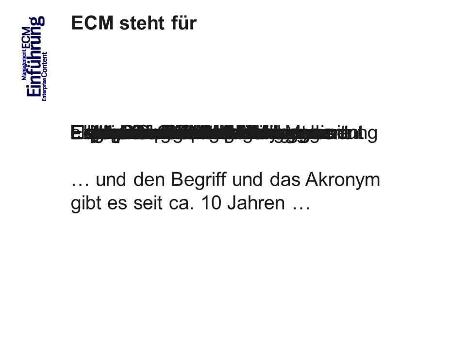 6 ECM steht für ECM Trends 2010 COI GmbH Dr.