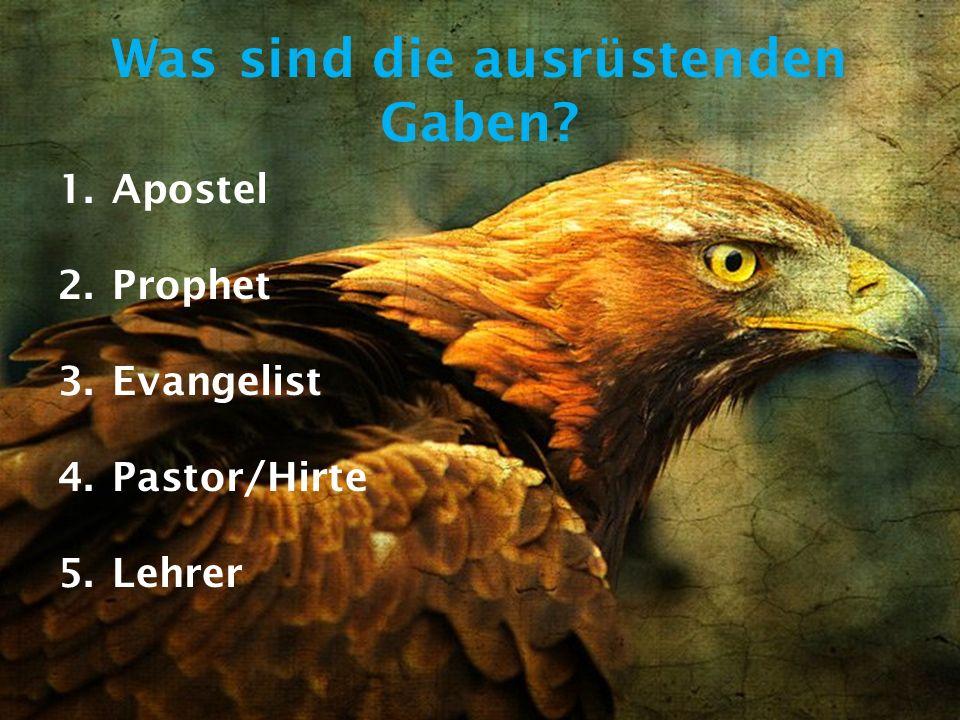 1.Korinther 12,28 Und Gott hat in der Gemeinde eingesetzt erstens APOSTEL, zweitens PROPHETEN, drittens LEHRER, dann Wundertäter, dann Gaben, gesund zu machen, zu helfen, zu leiten und mancherlei Zungenrede.