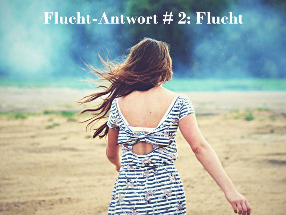 Flucht-Antwort # 2: Flucht