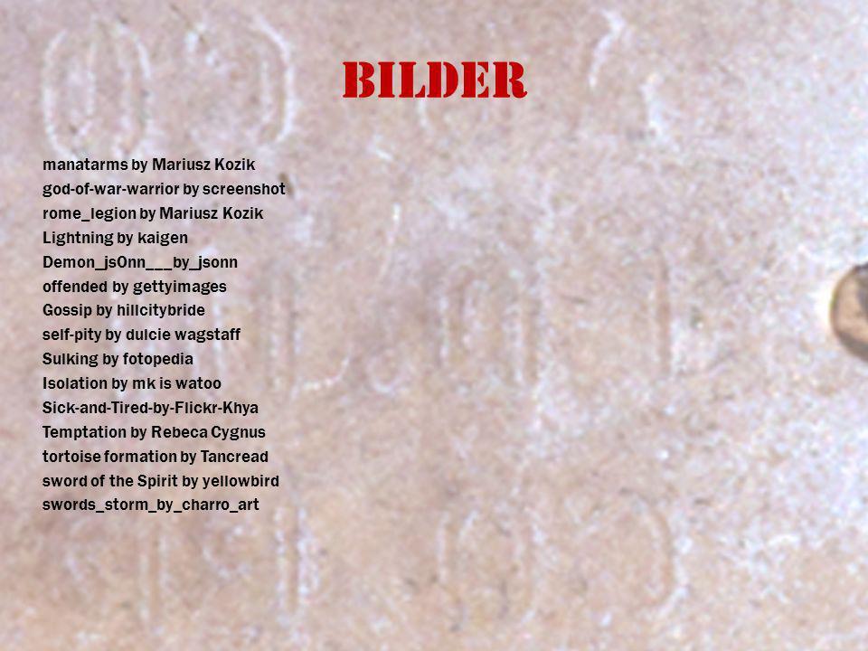 Bilder manatarms by Mariusz Kozik god-of-war-warrior by screenshot rome_legion by Mariusz Kozik Lightning by kaigen Demon_jsOnn___by_jsonn offended by