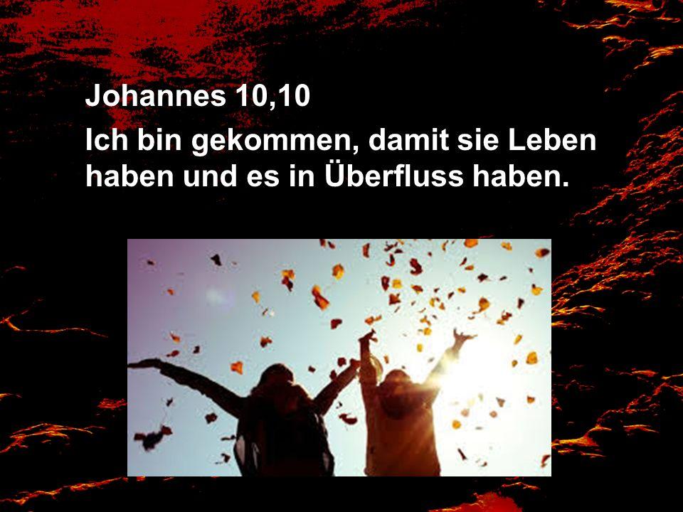 Johannes 10,10 Ich bin gekommen, damit sie Leben haben und es in Überfluss haben.