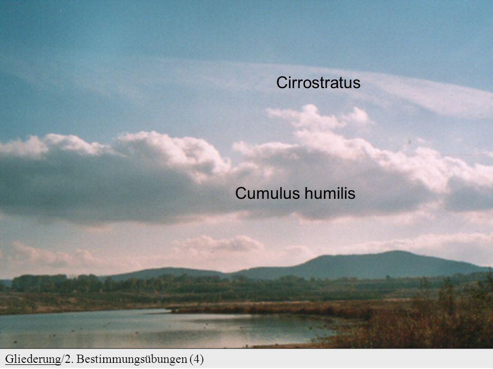 GliederungGliederung/2. Bestimmungsübungen (3) Altocumulus lenticularis