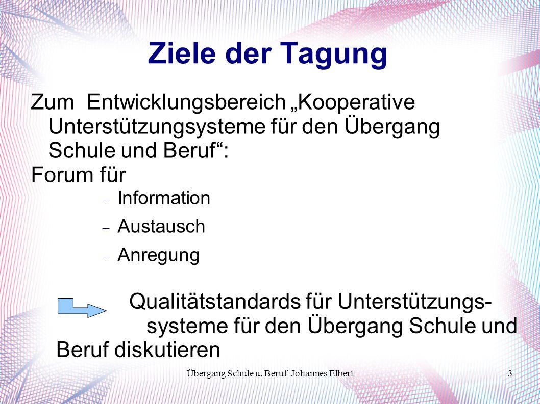 Übergang Schule u. Beruf Johannes Elbert24 Tausend Dank!