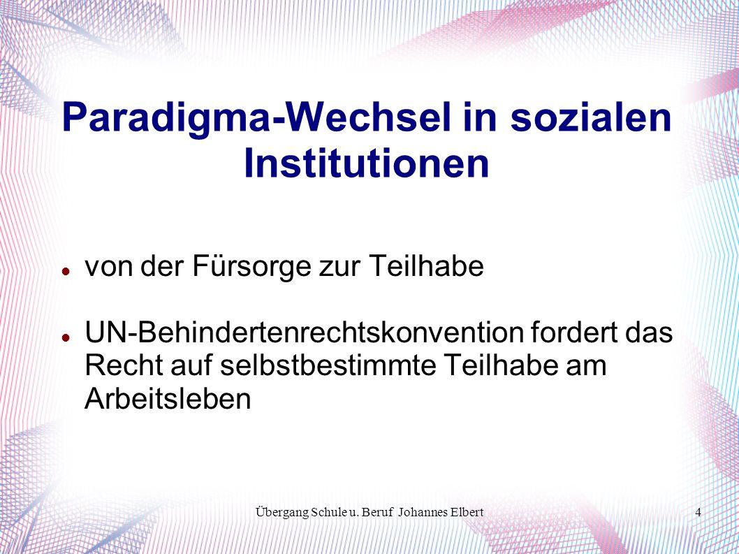 Übergang Schule u.Beruf Johannes Elbert15 Kohärenzgefühle und allg.