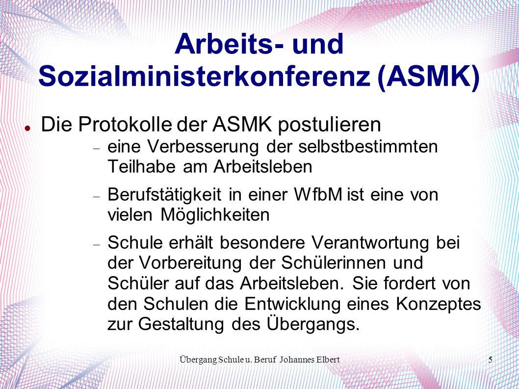 Übergang Schule u. Beruf Johannes Elbert26