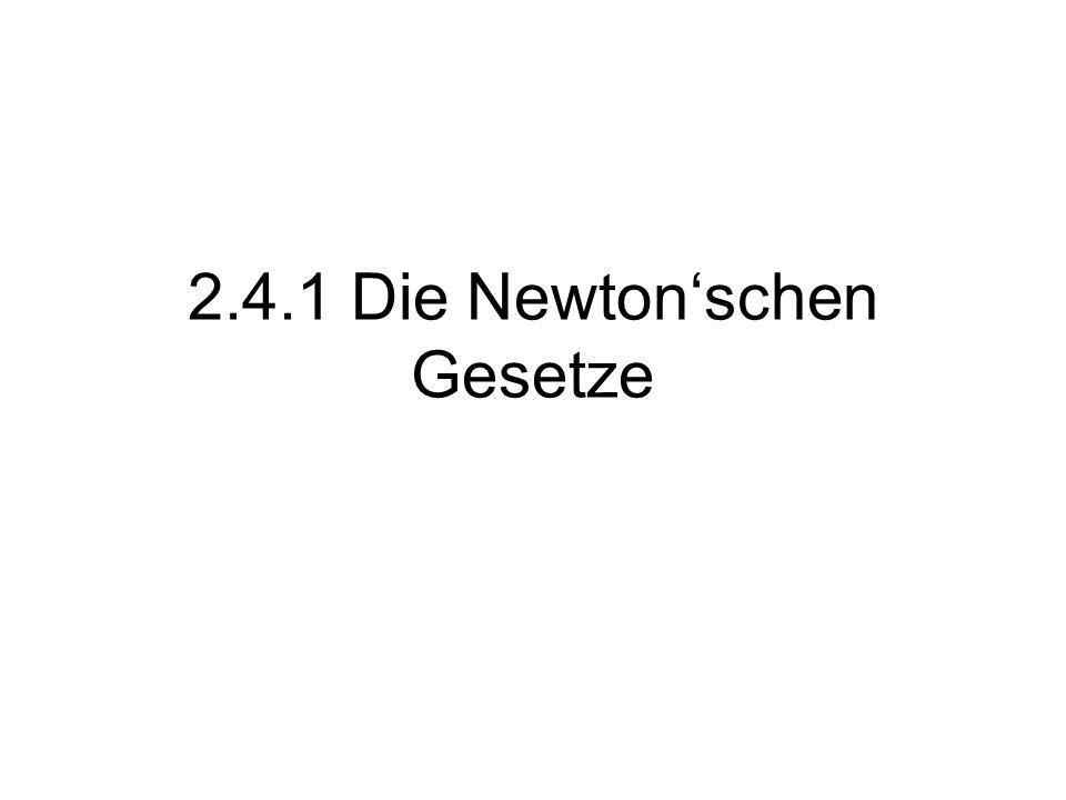 2.4.1 Die Newtonschen Gesetze