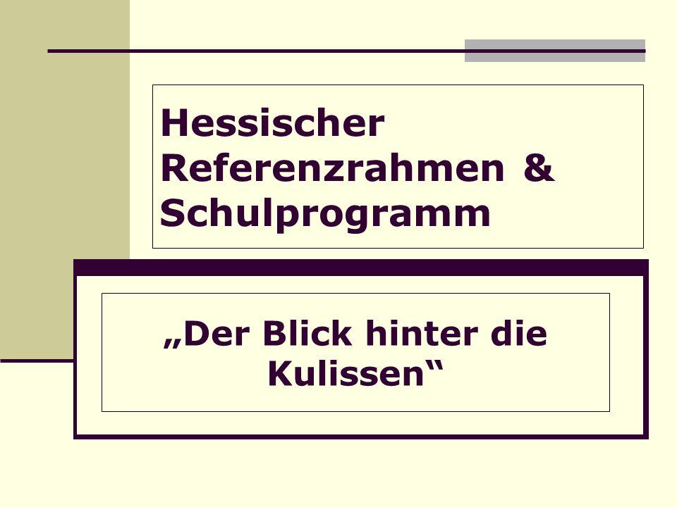 Hessischer Referenzrahmen & Schulprogramm Der Blick hinter die Kulissen