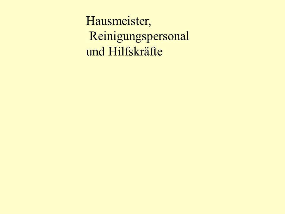 Hausmeister, Reinigungspersonal und Hilfskräfte