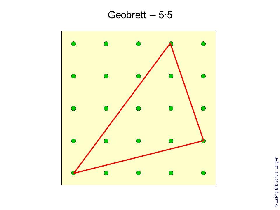 © Ludwig-Erk-Schule Langen Geobrett – 5·5 mit Gitternetz