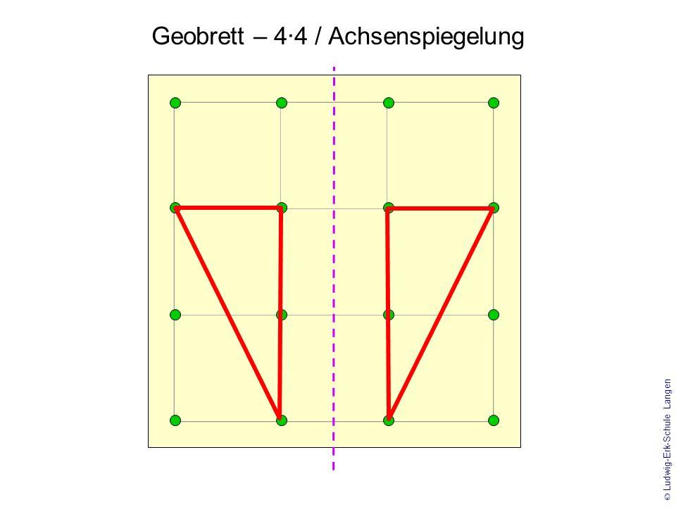 © Ludwig-Erk-Schule Langen Geobrett – 5·5 / Achsenspiegelung