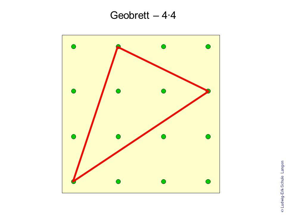 © Ludwig-Erk-Schule Langen Geobrett – 4·4 mit Gitternetz