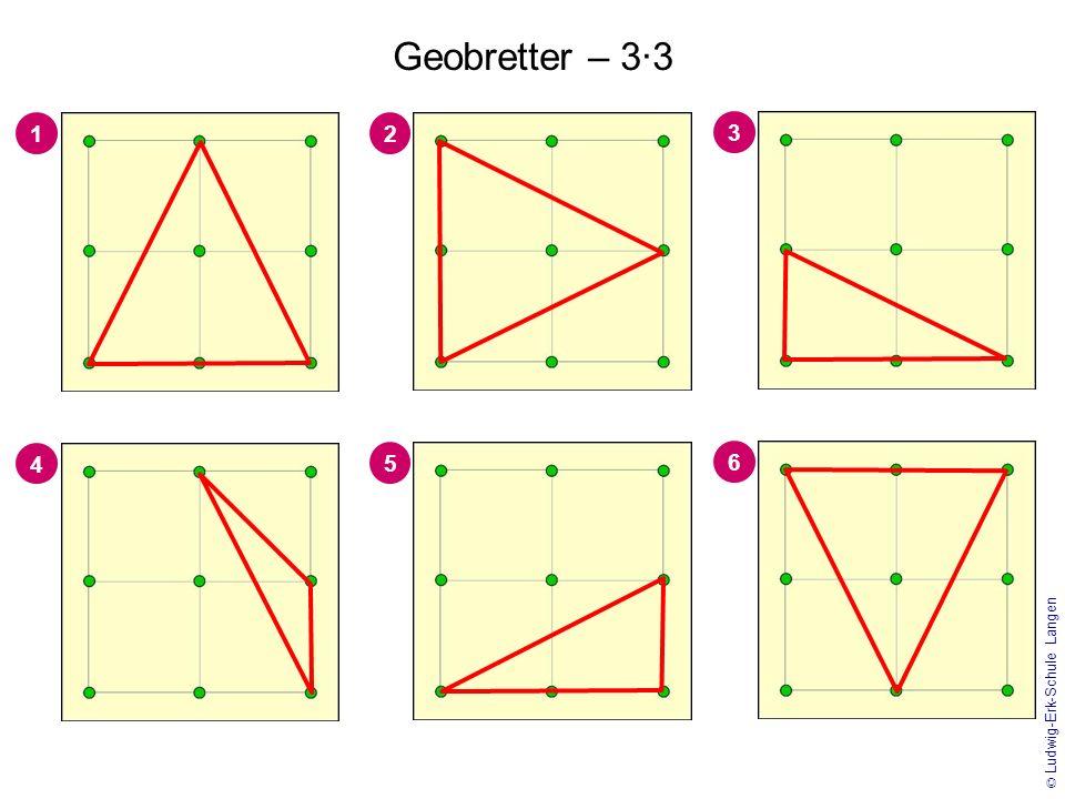 1 3 2 4 © Ludwig-Erk-Schule Langen Geobretter – 4·4