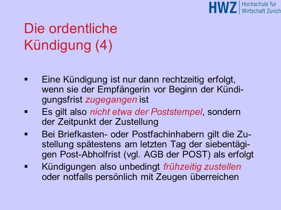 Pflichten bei der Beendigung des AV Einsprache/Klagefrist (Art.