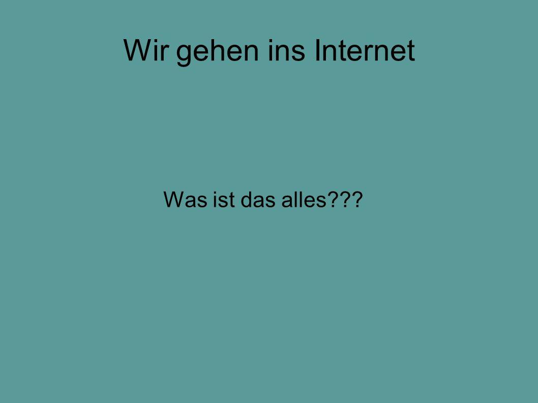 Wir gehen ins Internet Was ist das alles???