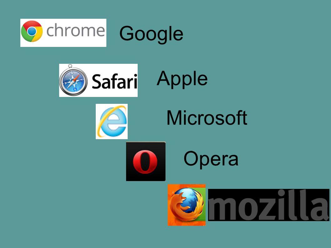 Google Apple Microsoft Opera