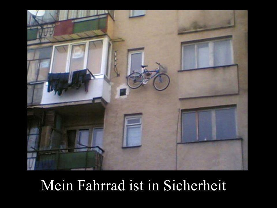 Mein Fahrrad ist in Sicherheit