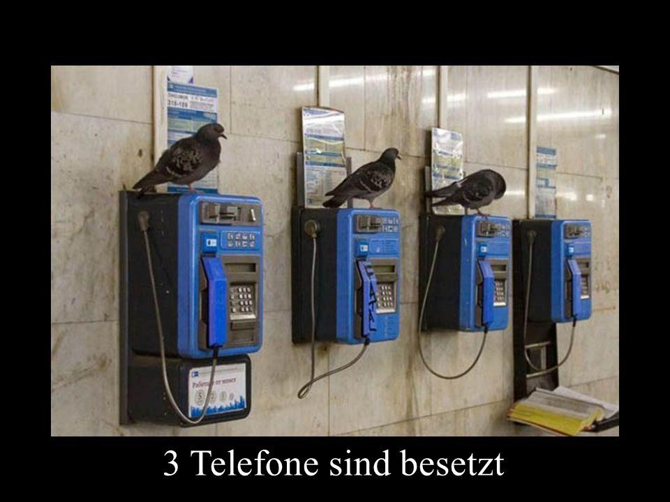 3 Telefone sind besetzt