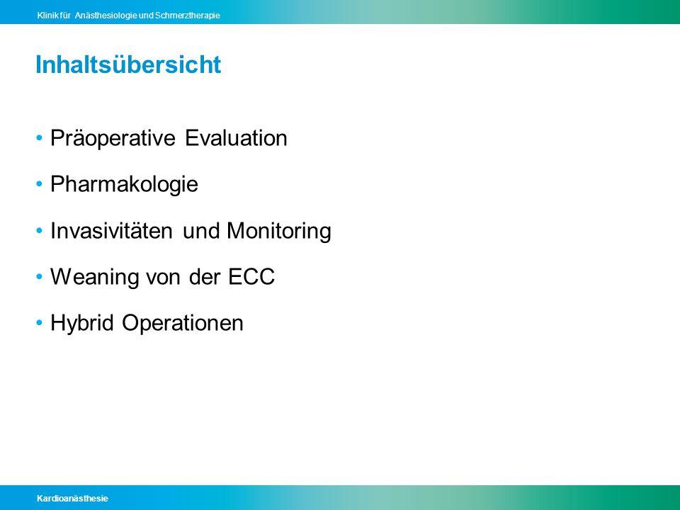 Kardioanästhesie Klinik für Anästhesiologie und Schmerztherapie Aktuelle Studienlage, N = 414 De Hert et al., Anaesthesia.