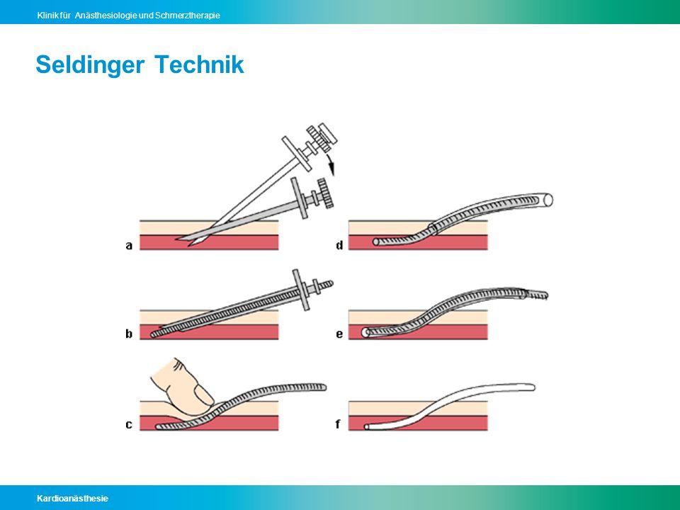 Kardioanästhesie Klinik für Anästhesiologie und Schmerztherapie Seldinger Technik