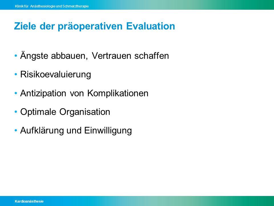 Kardioanästhesie Klinik für Anästhesiologie und Schmerztherapie Analgesie Kessler P et al., Anasthesiol Intensivmed Notfallmed Schmerzther 2008 ; 1: 38–43