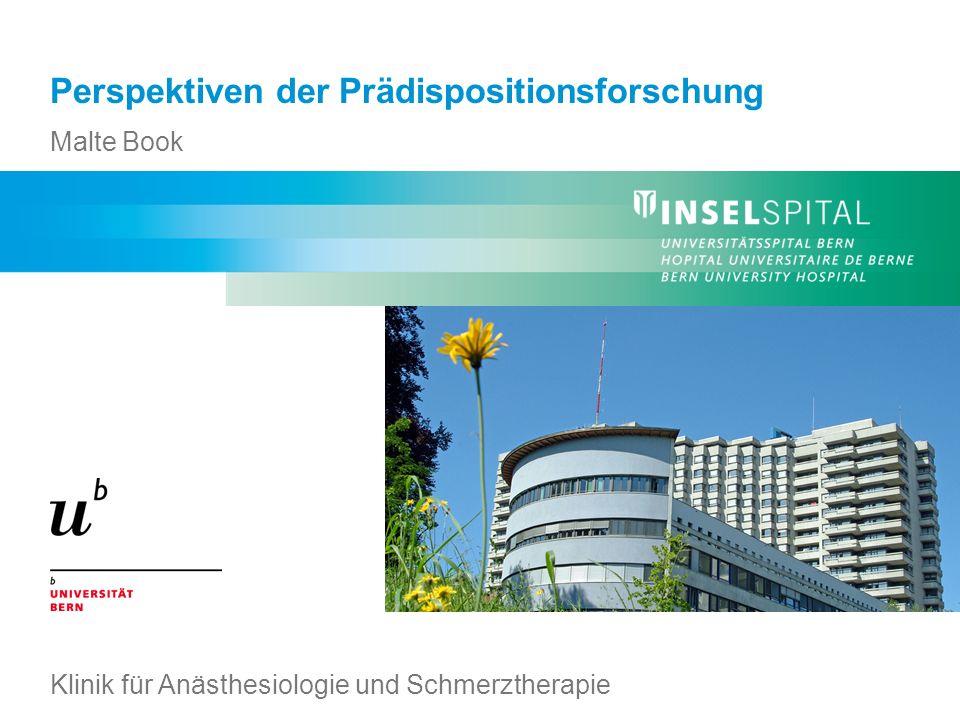 Malte Book – Perspektiven der Prädispositionsforschung Klinik für Anästhesiologie und Schmerztherapie Effekt der 20 wichtigsten SNPs für die Größe Effektgröße 0,05 34000 Individuen Statistische Power = 10% Weedon et al.