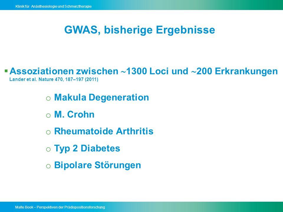 Malte Book – Perspektiven der Prädispositionsforschung Klinik für Anästhesiologie und Schmerztherapie Genom Sequenzierung wird Routineuntersuchung werden