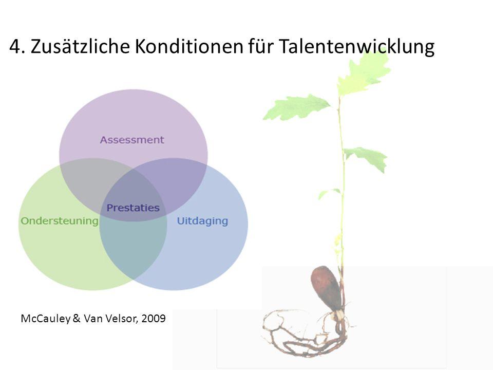 4. Zusätzliche Konditionen für Talentenwicklung McCauley & Van Velsor, 2009