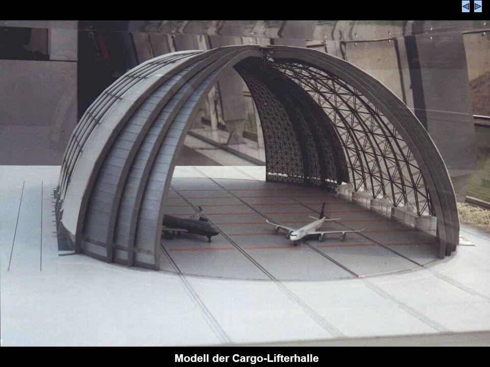 Modell der Cargo-Lifterhalle