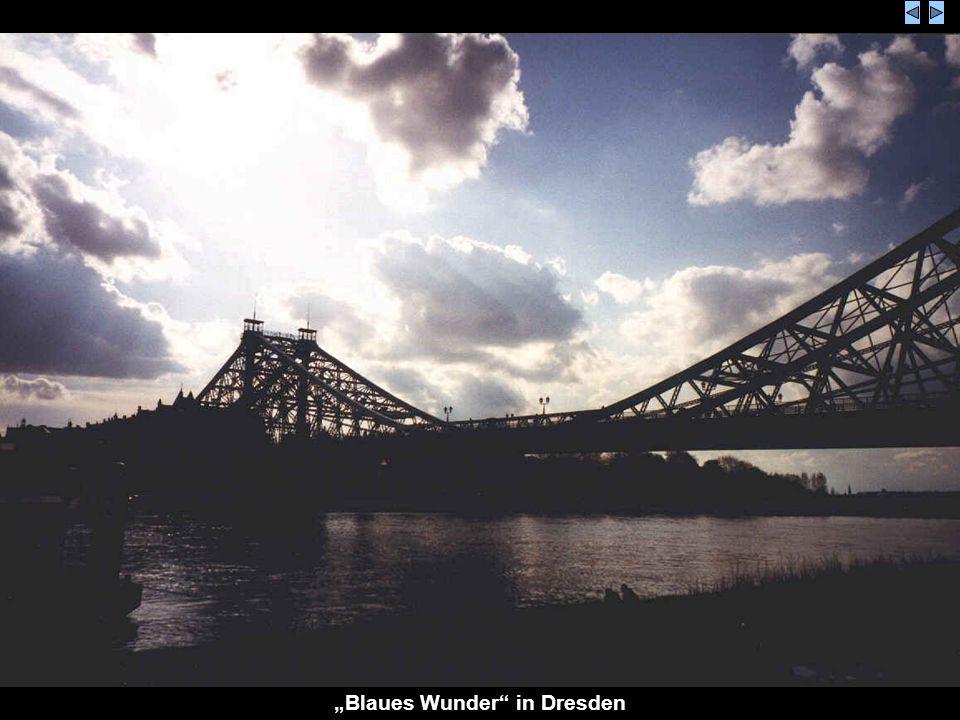 Blaues Wunder in Dresden