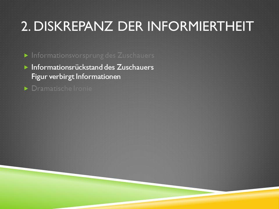 5.1. INFORMATIONEN ZU BEGINN Dramatischer Auftakt Exposition Isolation Vermittlung