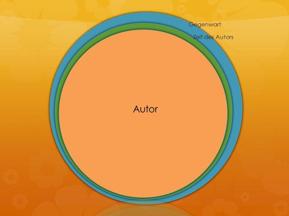 Gegenwart Zeit des Autors Autor