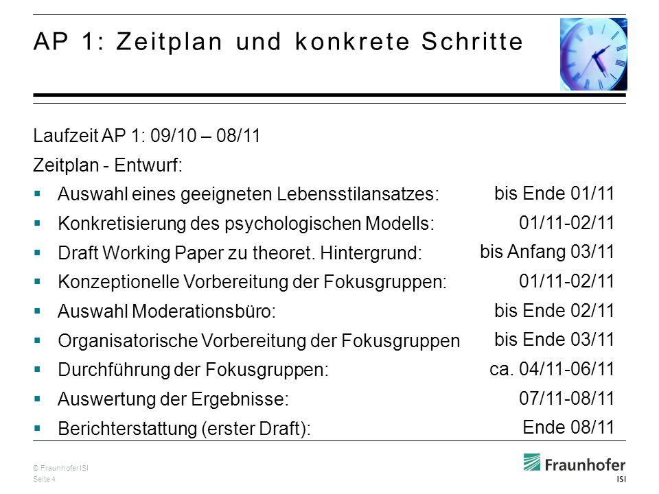 © Fraunhofer ISI Seite 4. bis Ende 01/11 01/11-02/11 bis Anfang 03/11 01/11-02/11 bis Ende 02/11 bis Ende 03/11 ca. 04/11-06/11 07/11-08/11 Ende 08/11