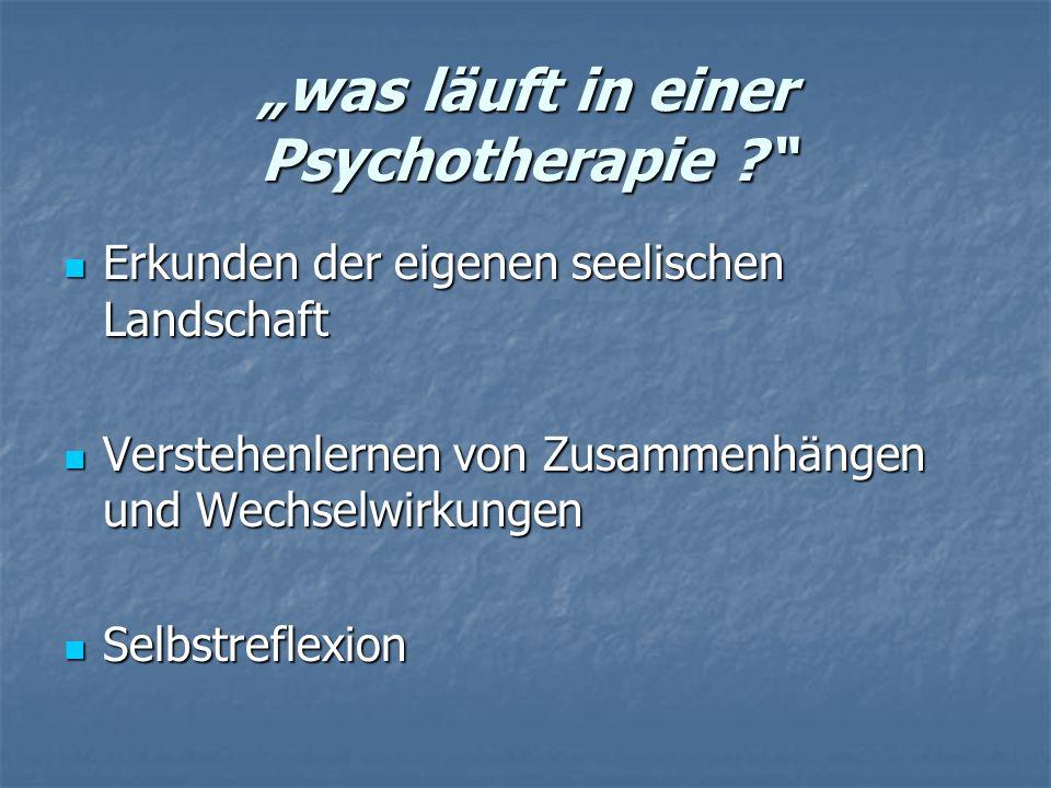 was läuft in einer Psychotherapie .