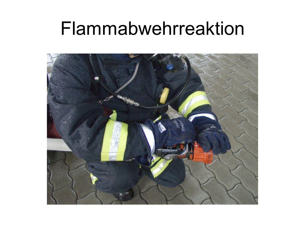 Flammabwehrreaktion