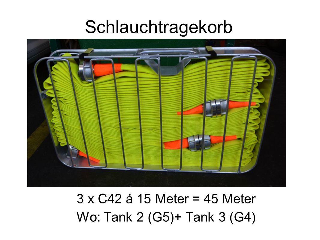 Schlauchtragekorb 3 x C42 á 15 Meter = 45 Meter Wo: Tank 2 (G5)+ Tank 3 (G4)