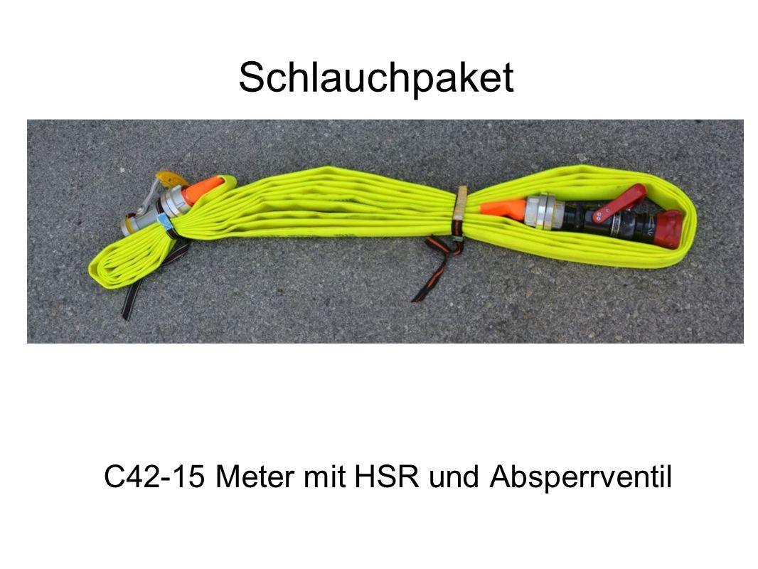 Schlauchpaket C42-15 Meter mit HSR und Absperrventil