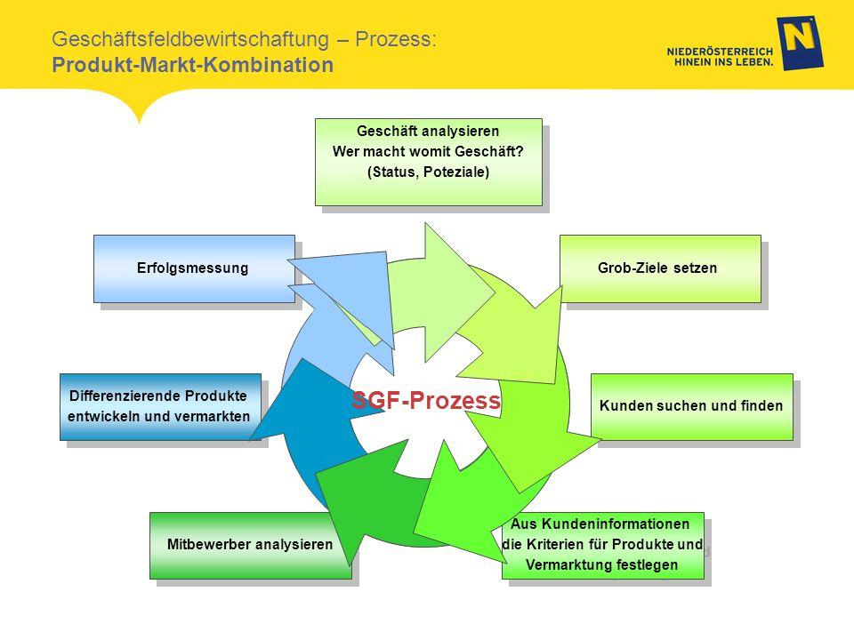 Geschäft analysieren Wer macht womit Geschäft? (Status, Poteziale) Geschäft analysieren Wer macht womit Geschäft? (Status, Poteziale) Grob-Ziele setze