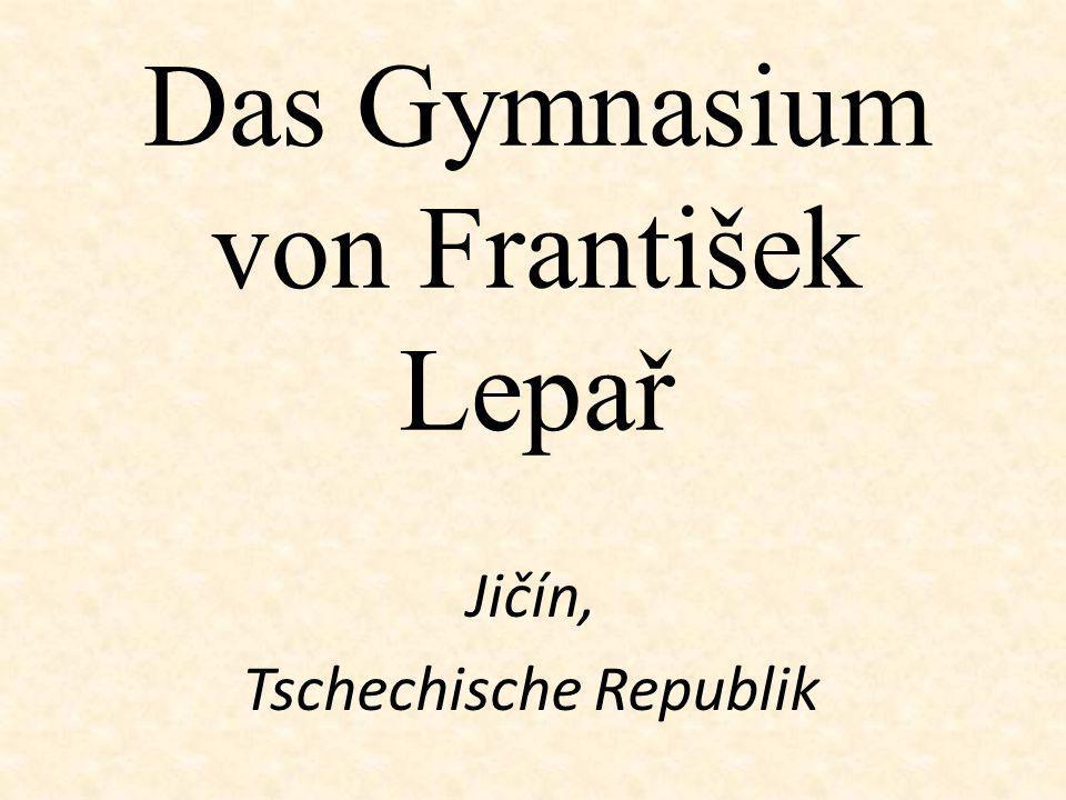 Das Gymnasium von František Lepař Jičín, Tschechische Republik