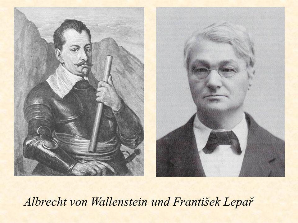 Albrecht von Wallenstein und František Lepař