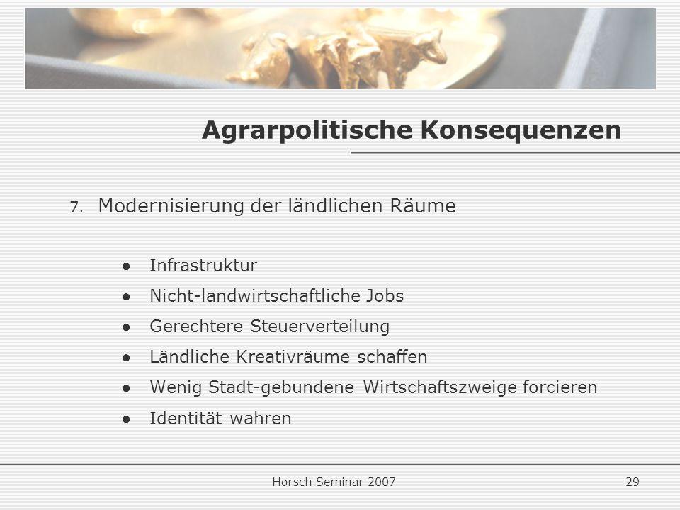 Horsch Seminar 200729 Agrarpolitische Konsequenzen 7.