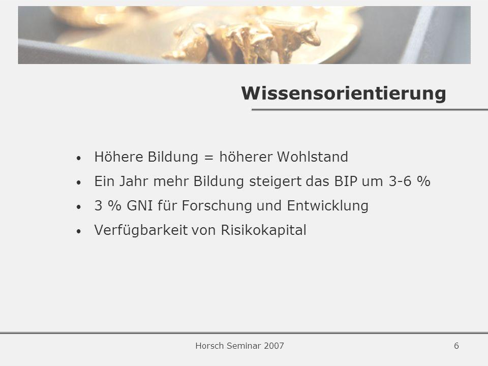 Horsch Seminar 200737 Mögliche Maßnahmen Lt.