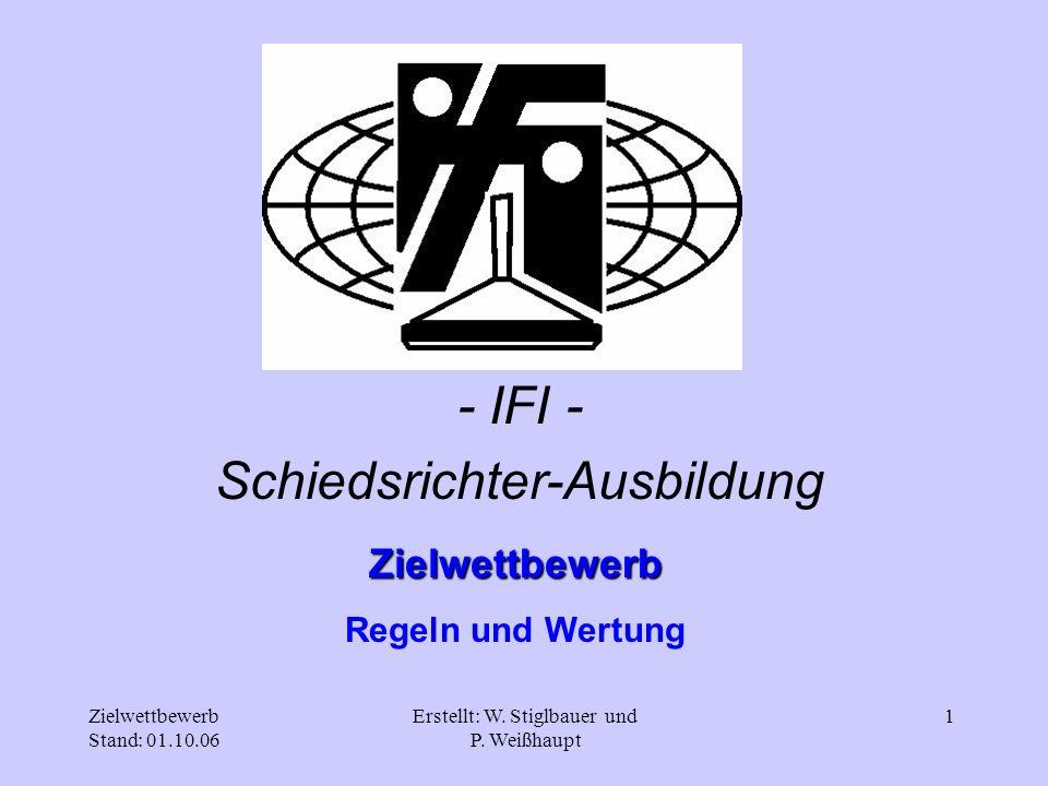 Zielwettbewerb Stand: 01.10.06 Erstellt: W.Stiglbauer und P.